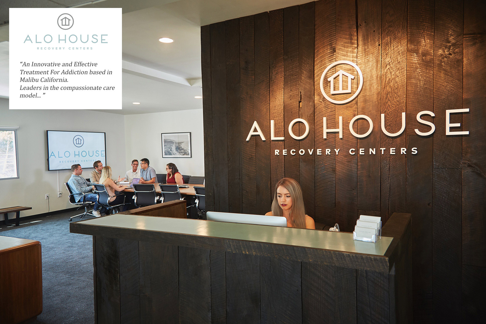 Alo House Recovery Center Malibu. Lifestyle Photo Shoot. Reception