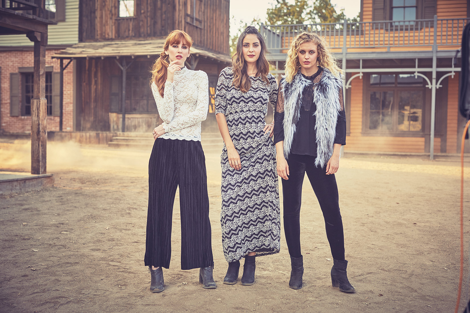 Group Shot Boho Style at Paramount Ranch. Los Angeles