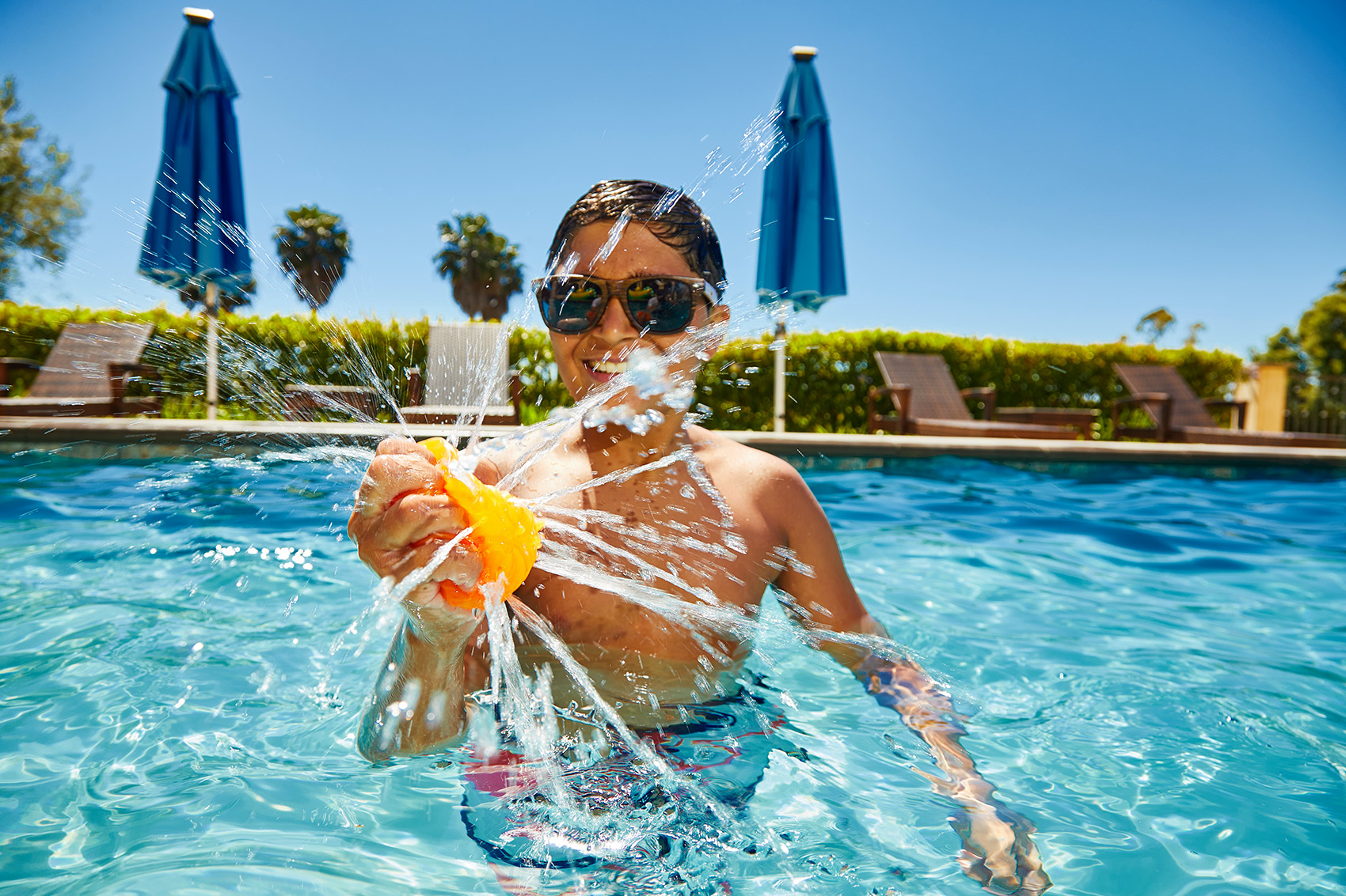 Lifestyle Photographer California | Wham-O Pool Day with Toys