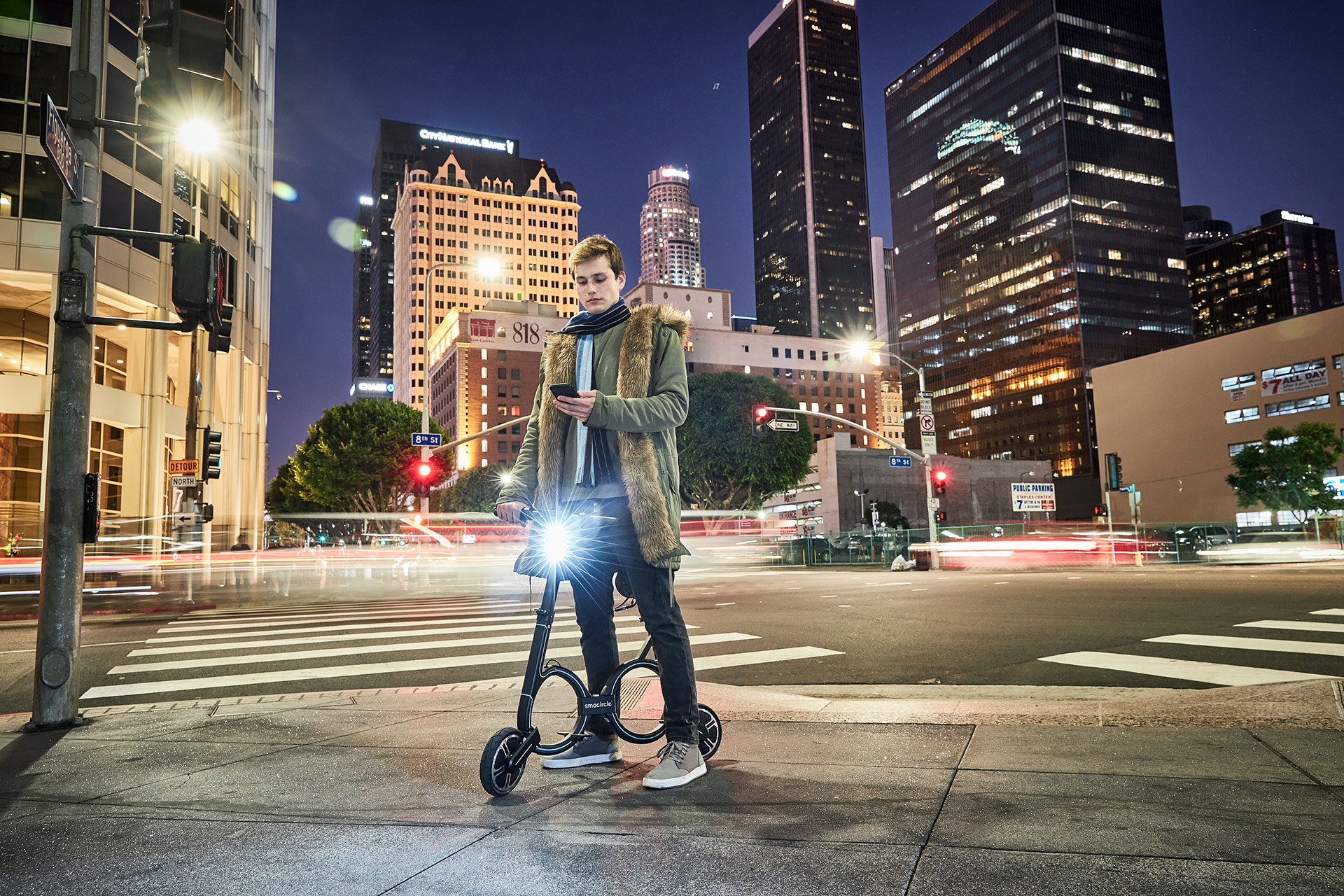 Lifestyle Photographer Los Angeles, E-Bike-Downtown