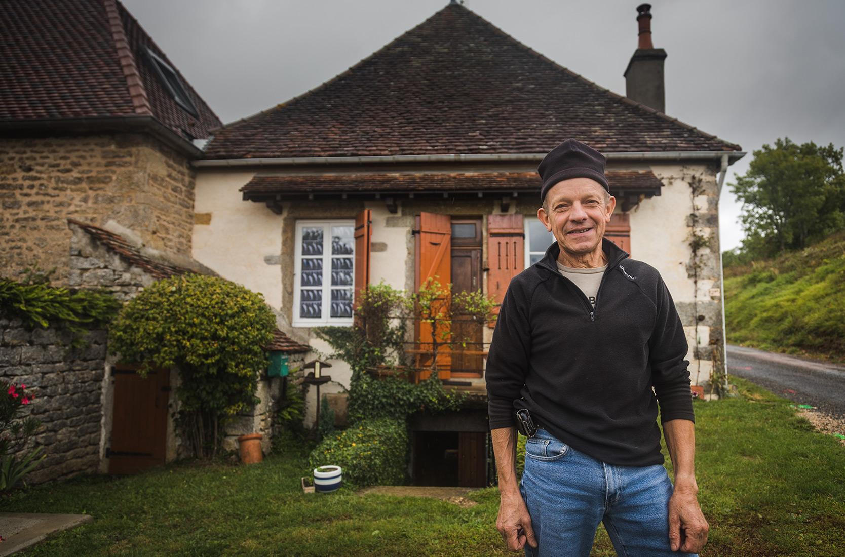 Bernard at the Domaine De Cromey in Burgundy