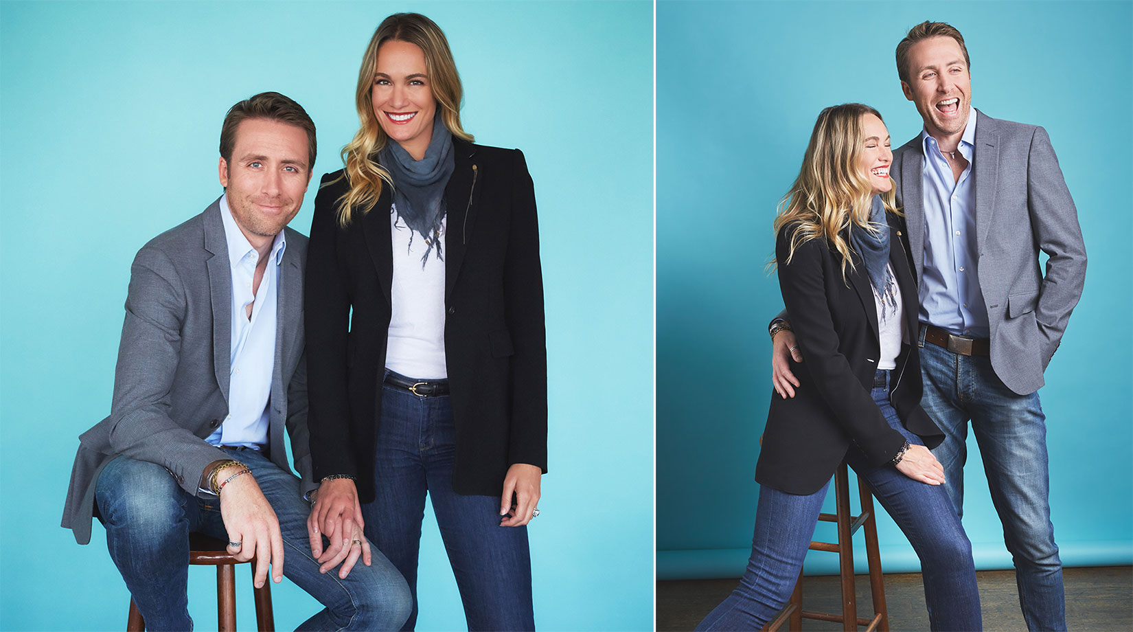 Philippe Cousteau Jr and his wife Ashlan. For American Way Magazine