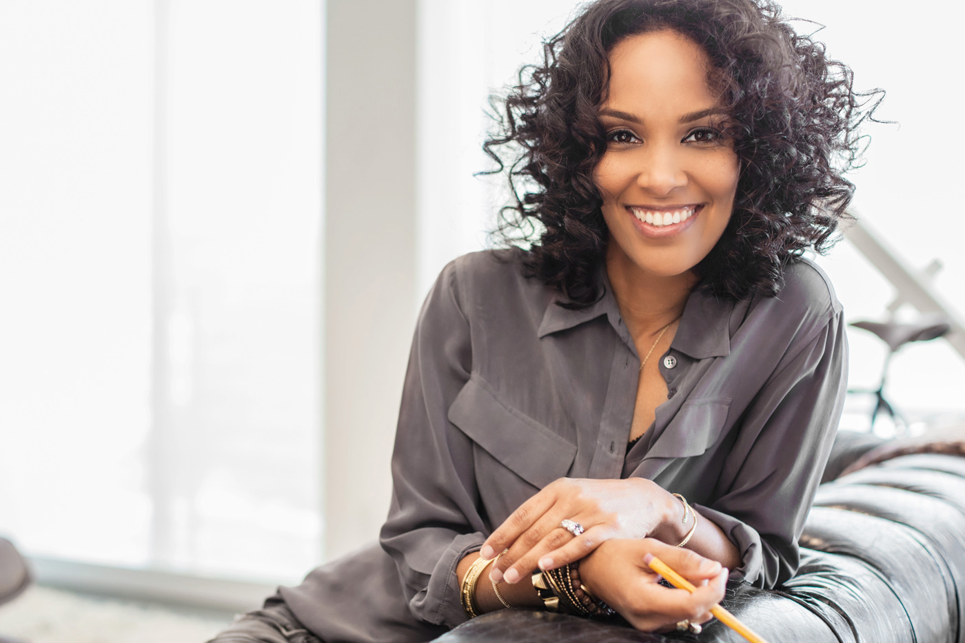 Mara Brock Akil Producer Portrait. Emmy Magazine