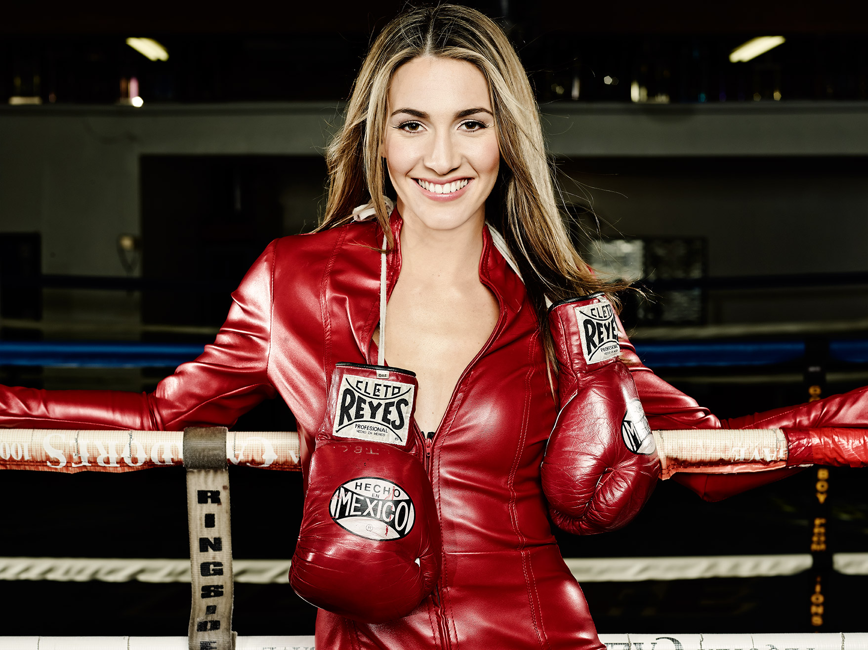 Mikaela Mayer Female Boxer with Eduardo Lucero Jumpsuit
