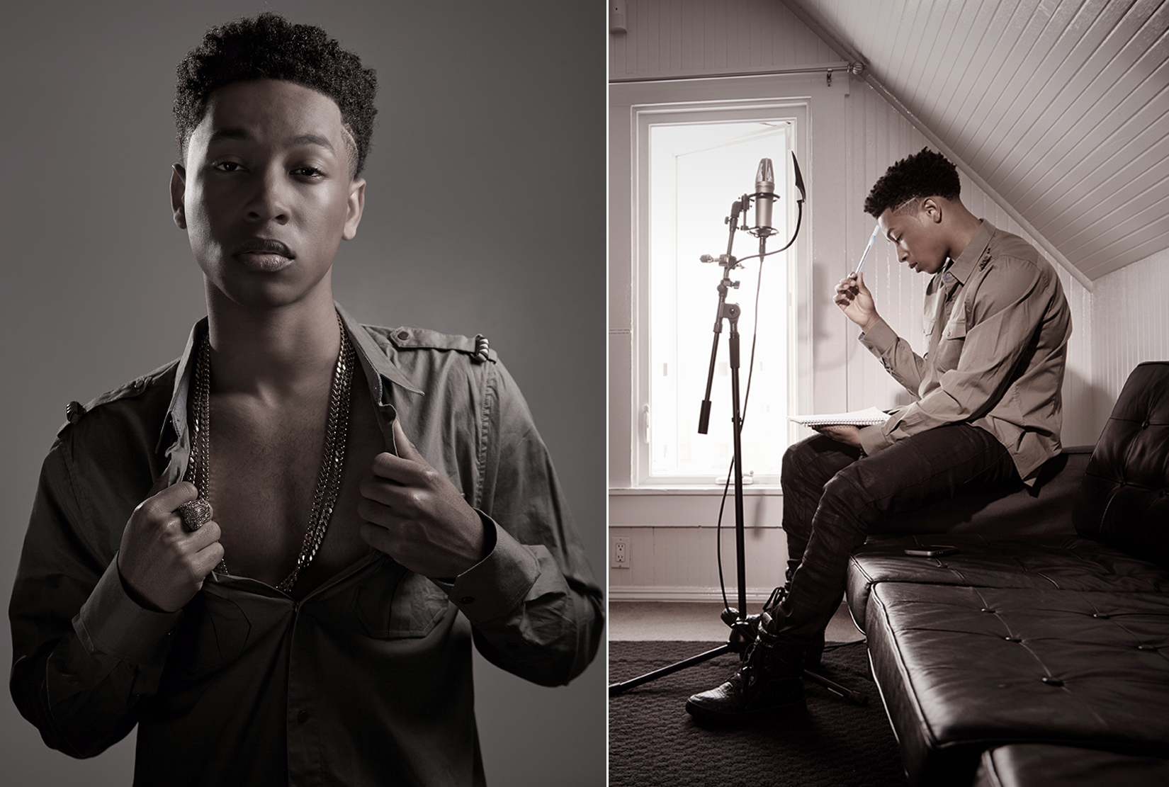 Jacob Latimore Portrait, The Maze Runner by Rocco Ceselin